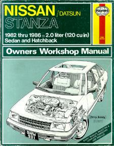 STRASMAN, PETER G. - Nissan/Datsun Stanza Owners Workshop Manual.